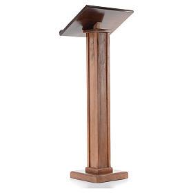 Leggio a colonna legno altezza regolabile 120x45x34 cm s3