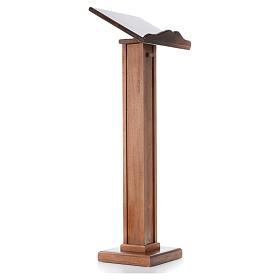 Leggio a colonna legno altezza regolabile 120x45x34 cm s4