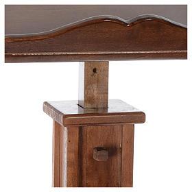 Leggio a colonna legno altezza regolabile 120x45x34 cm s5