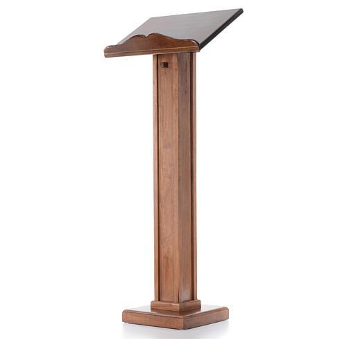 Leggio a colonna legno altezza regolabile 120x45x34 cm 2