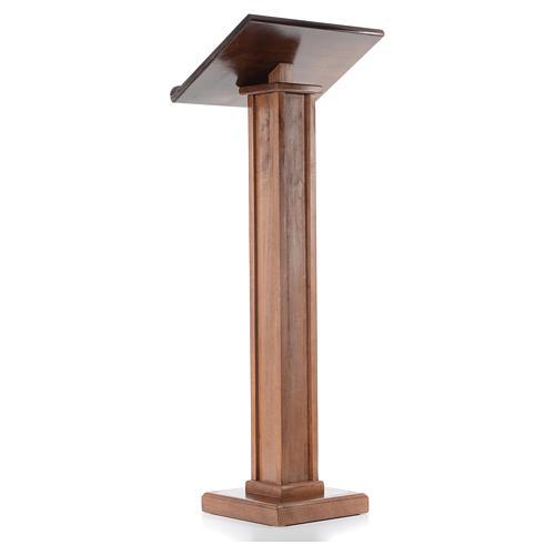 Leggio a colonna legno altezza regolabile 120x45x34 cm 3