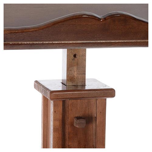 Leggio a colonna legno altezza regolabile 120x45x34 cm 5