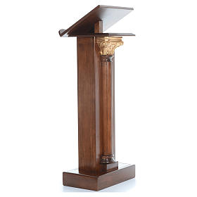 Lectern in wood with capital H125cm s4