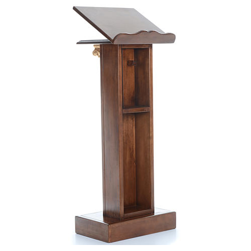 Lectern in wood with capital H125cm 3