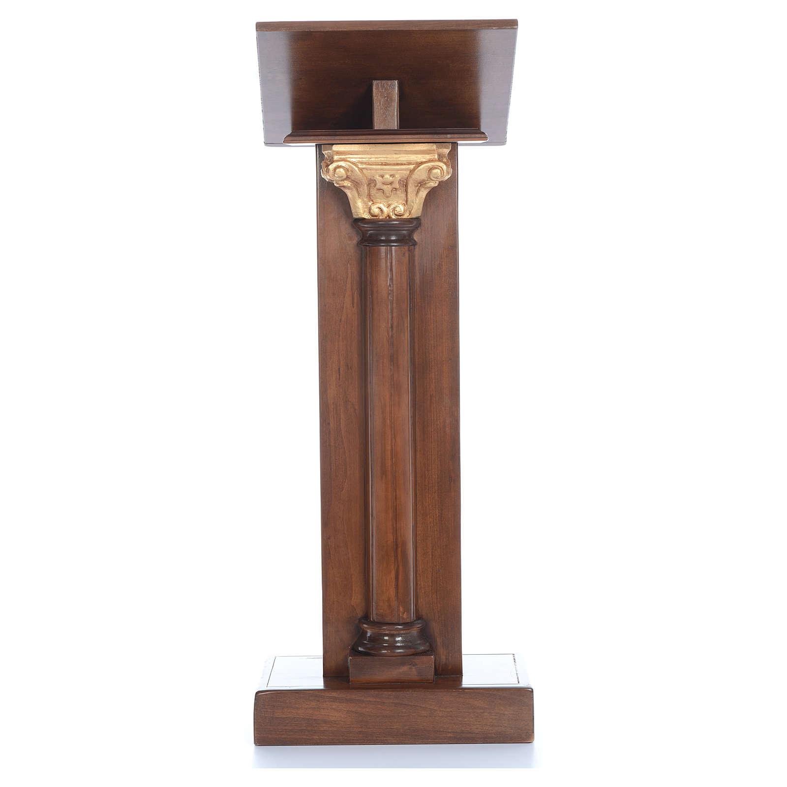 Leggio in legno con capitello cm 125 4