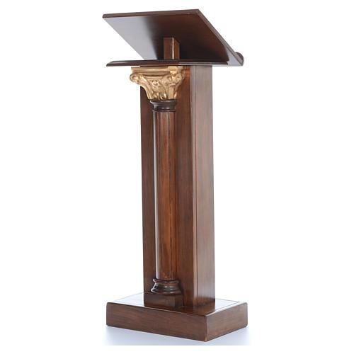 Leggio in legno con capitello cm 125 2
