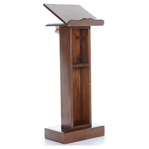 Leggio in legno con capitello cm 125 3