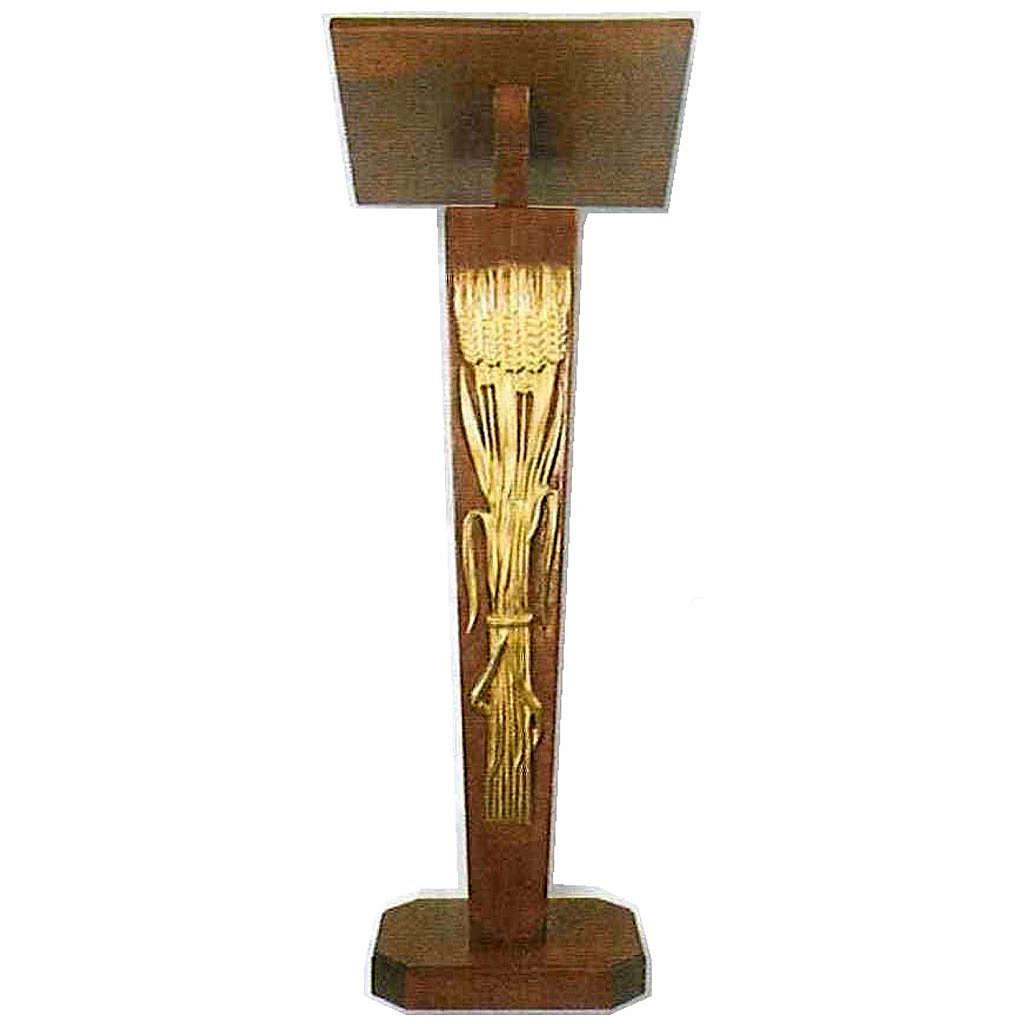 Lutrin à colonne en bois à hauteur réglable 4