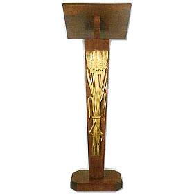 Lutrin à colonne en bois à hauteur réglable s1