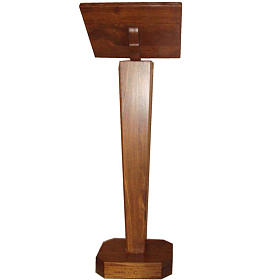 Lectern, column in solid wood, adjustable height s2