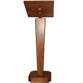 Leggio a colonna in legno massello regolabile in altezza s2