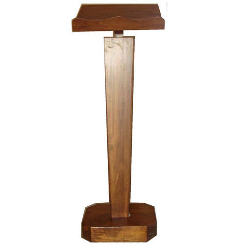 Lectern, column in solid wood, adjustable height 1