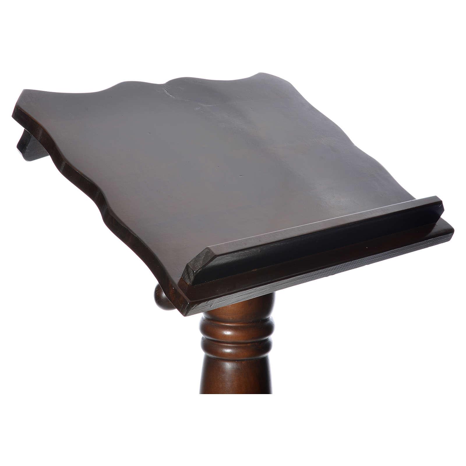 Leggio colonna legno massello tornito regolabile altezza 130 cm 4