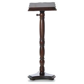 Leggio colonna legno massello tornito regolabile altezza 130 cm s1