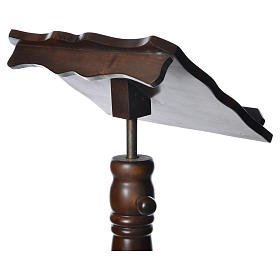 Leggio colonna legno massello tornito regolabile altezza 130 cm s6
