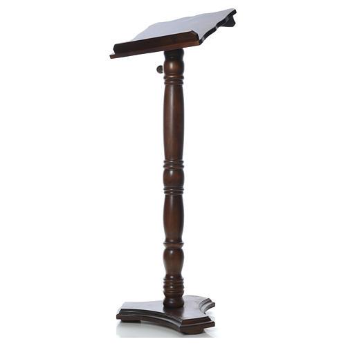 Leggio colonna legno massello tornito regolabile altezza 130 cm 2