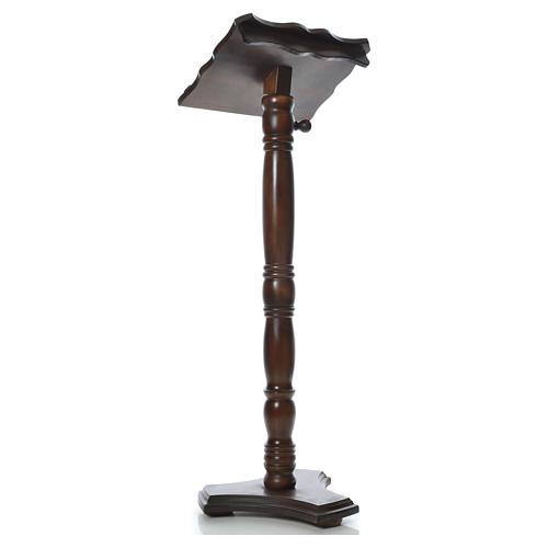Leggio colonna legno massello tornito regolabile altezza 130 cm 3