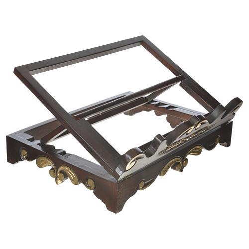Leggio da tavolo legno stile settecentesco 40x30 cm 2