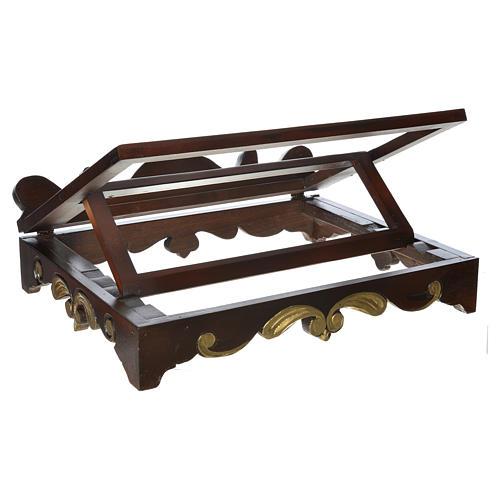 Leggio da tavolo legno stile settecentesco 40x30 cm 3