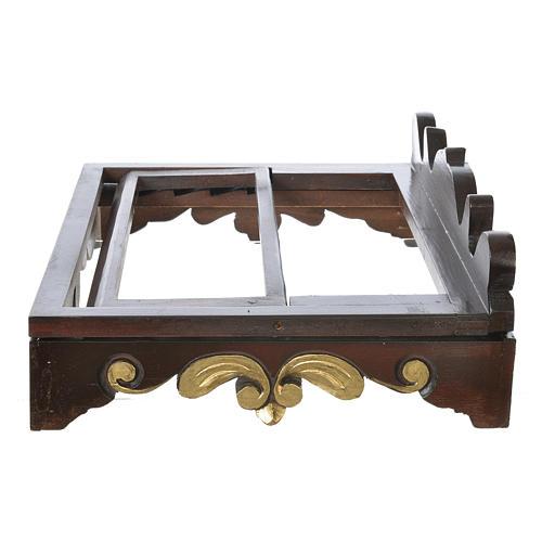 Leggio da tavolo legno stile settecentesco 40x30 cm 5