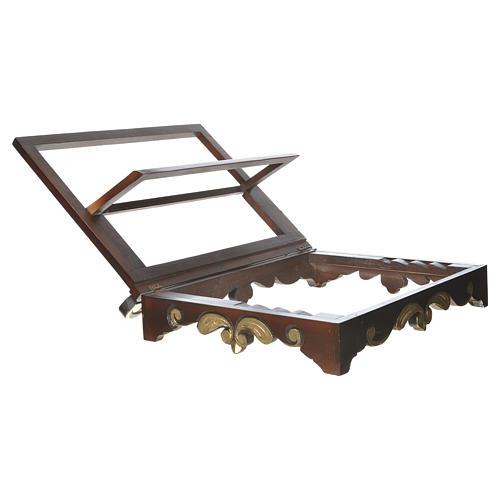 Leggio da tavolo legno stile settecentesco 40x30 cm 6
