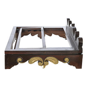 Table lectern in wood, 1700 style 40x30 cm s5