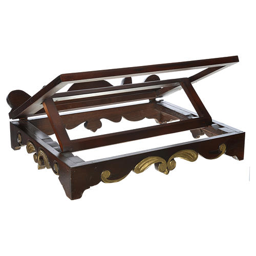 Table lectern in wood, 1700 style 40x30 cm 3