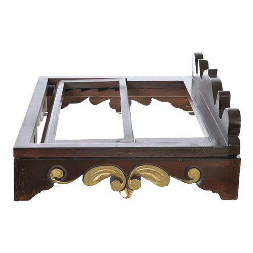 Table lectern in wood, 1700 style 40x30 cm 5