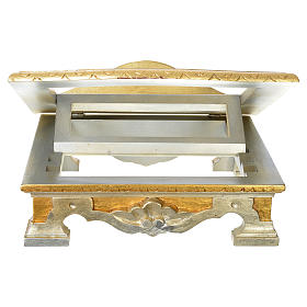 Table lectern in wood, with silver and gold leaf s3