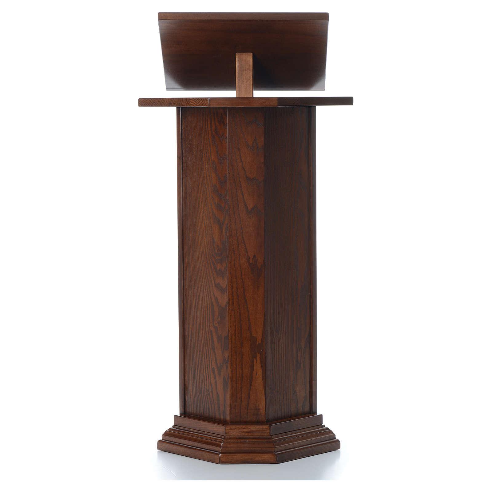 Ambón de madera maciza, con altura regulable H 130cm 4