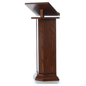 Ambón de madera maciza, con altura regulable H 130cm s2
