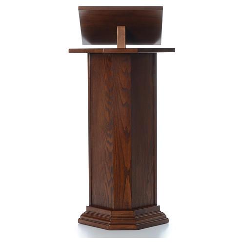 Ambón de madera maciza, con altura regulable H 130cm 1