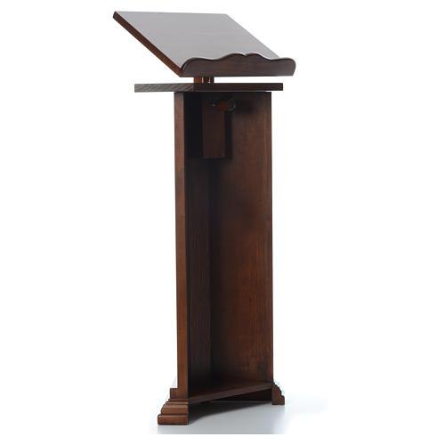 Ambón de madera maciza, con altura regulable H 130cm 3