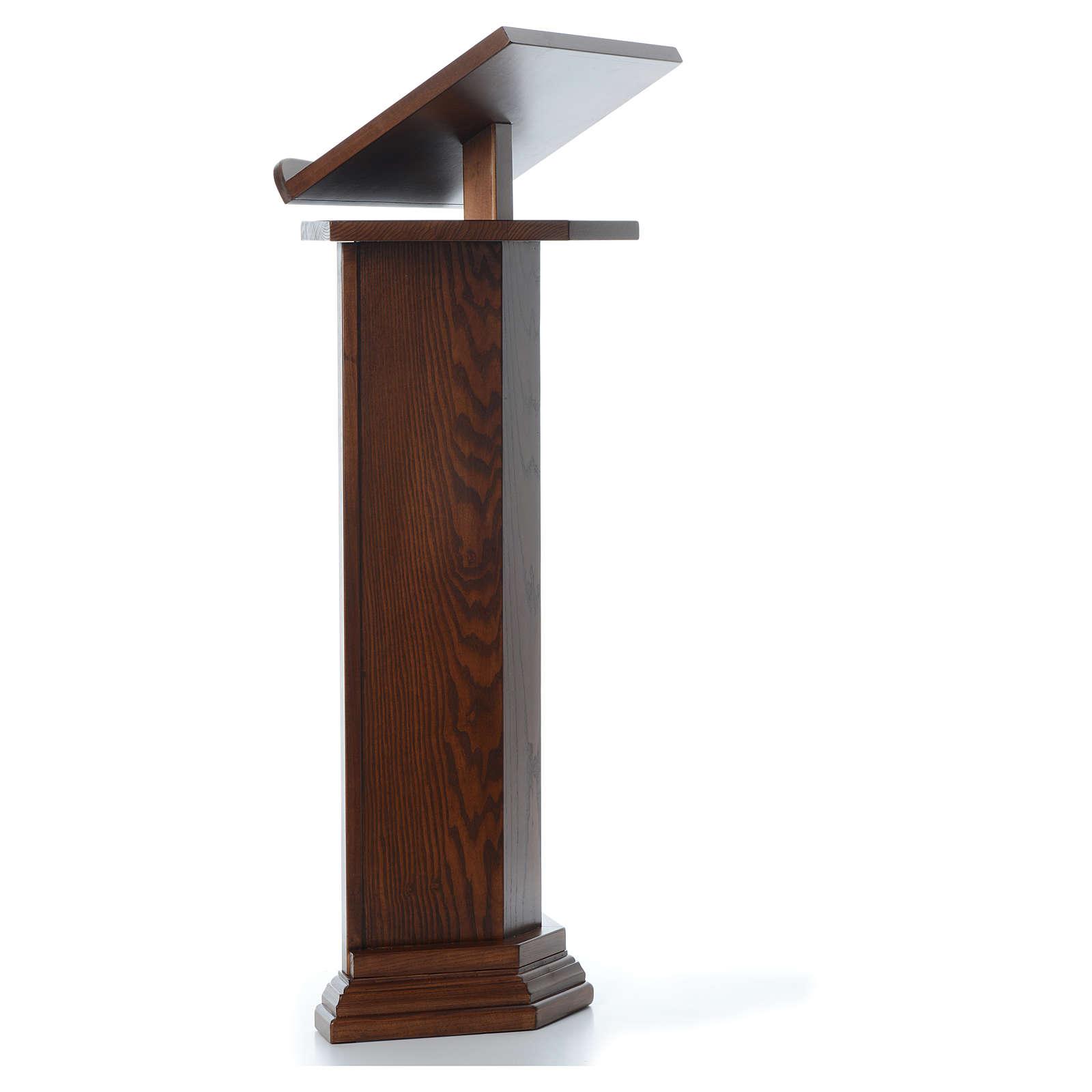 Ambone in legno massello altezza regolabile H 130 CM 4