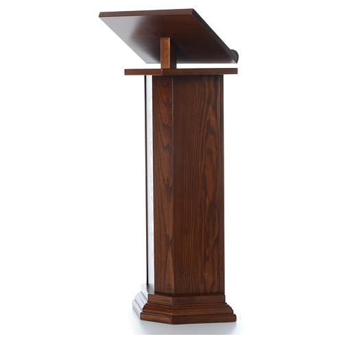 Ambone in legno massello altezza regolabile H 130 CM 2