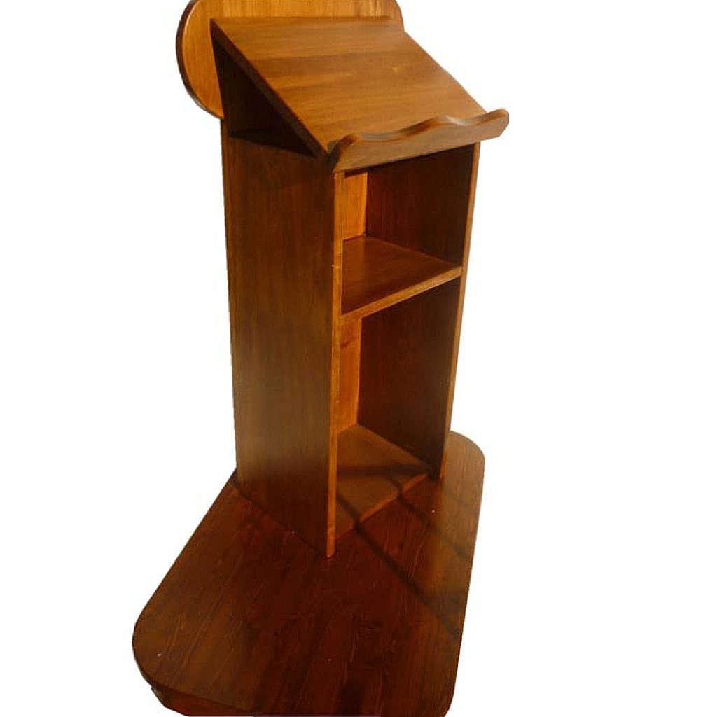 Ambone in legno massello con pedana 135x110x70 4