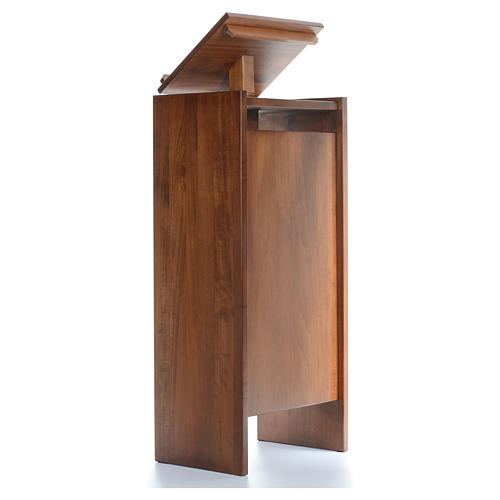 Ambón de madera maciza, con altura regulable 130x50x35cm 3