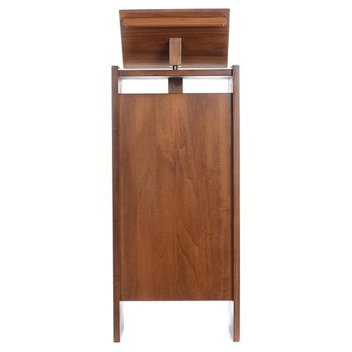 Ambone in legno massello regolabile in altezza 130x50x35 1