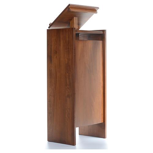 Ambone in legno massello regolabile in altezza 130x50x35 3