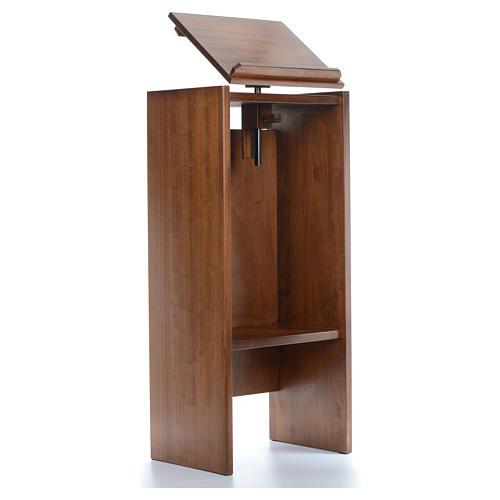 Ambone in legno massello regolabile in altezza 130x50x35 4
