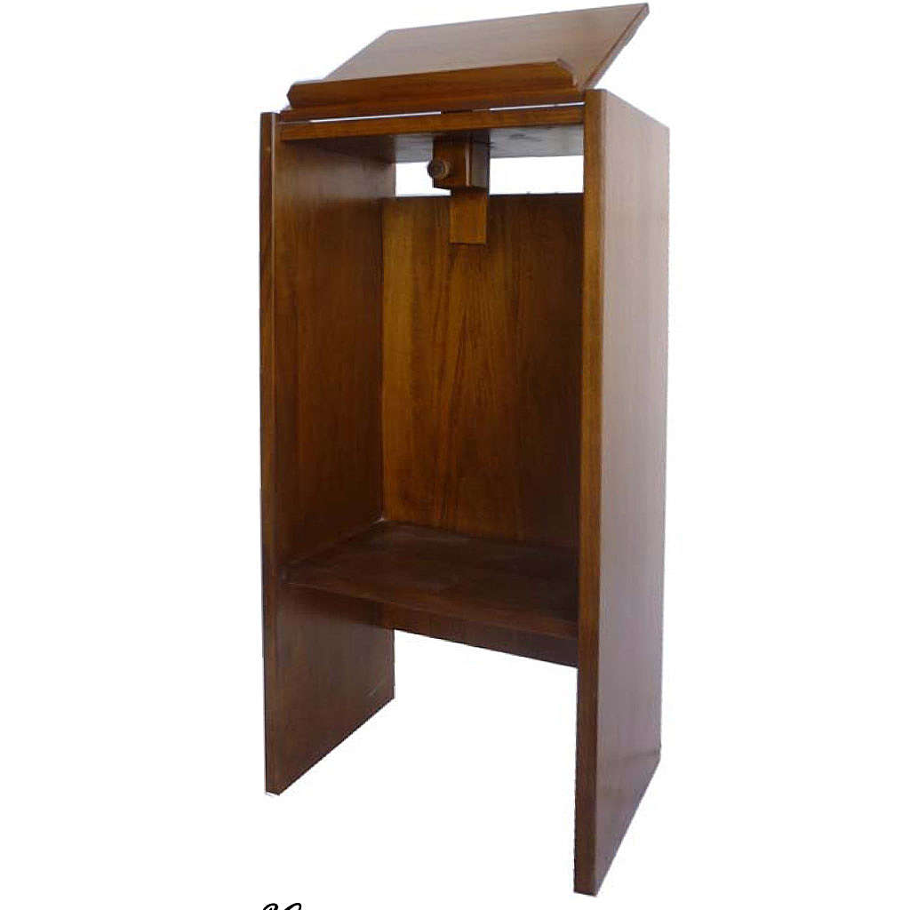Ambo in solid wood, adjustable with hand carving H130cm 4
