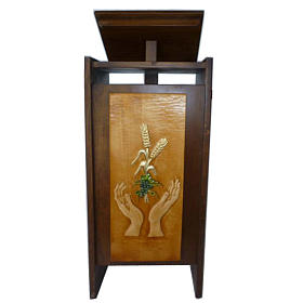 Ambo in solid wood, adjustable with hand carving H130cm s1