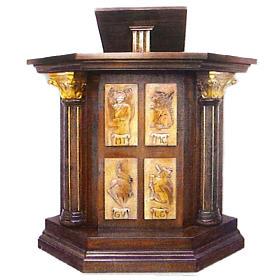 Ambon symboles des évangélistes 126x90x45cm s1