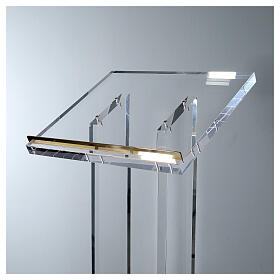 Molina lectern in perspex s2