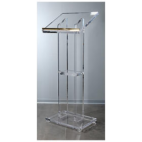 Molina lectern in perspex s1