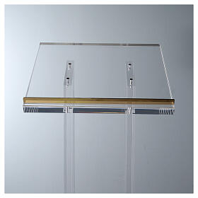 Molina lectern in perspex s5