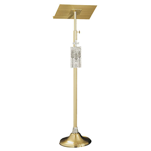 Molina lectern bookstand in golden brass 1