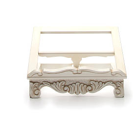 Baroque missal stand in walnut wood, ivory colour s8