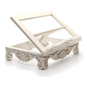 Baroque missal stand in walnut wood, ivory colour s11