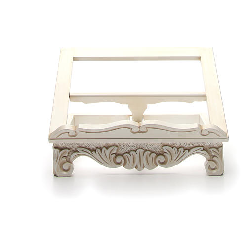 Baroque missal stand in walnut wood, ivory colour 8